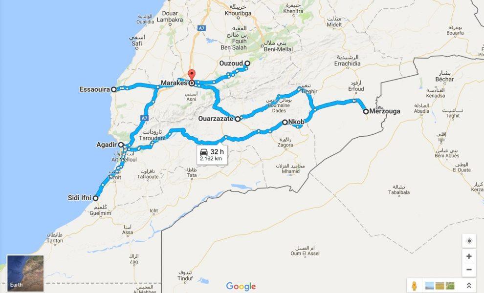 maroko zemljevid